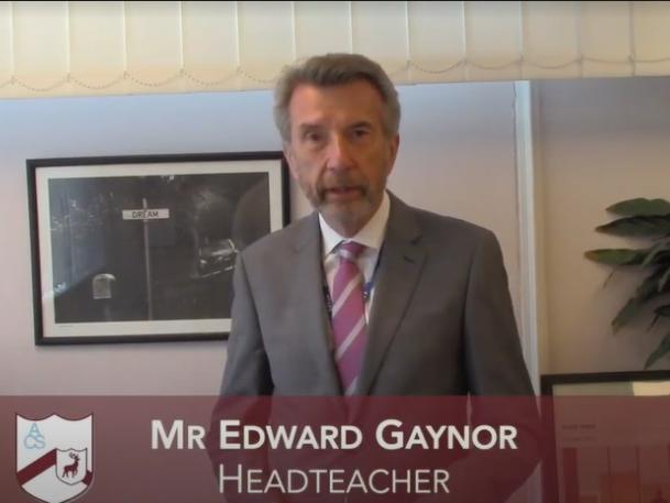 Headteacher, Edward Gaynor
