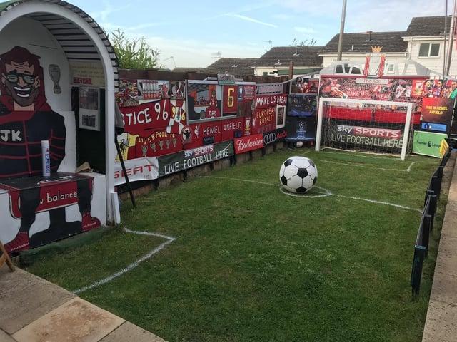 Liverpool fan transforms his Hemel Hempstead garden into a mini Anfield