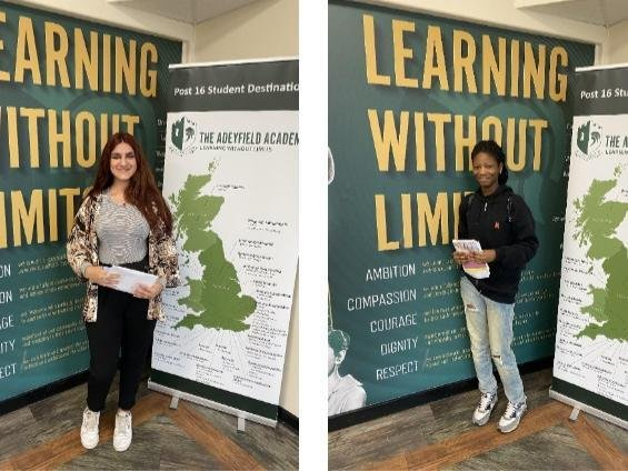 Students at Adeyfield Academy are celebrating their A-level results