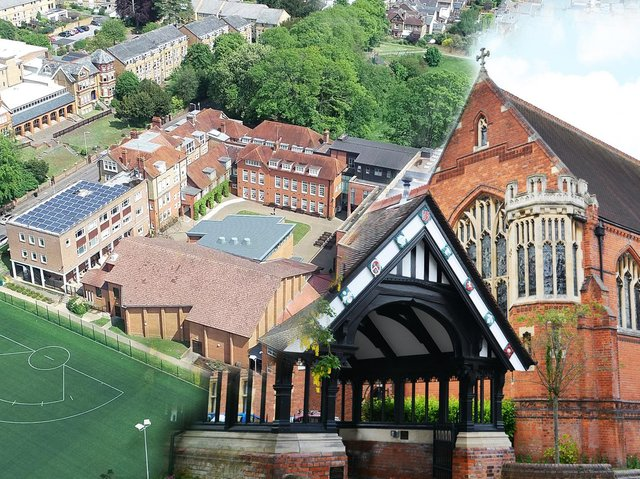 An image of the two schools - Berkhamsted Boys and Berkhamsted Girls