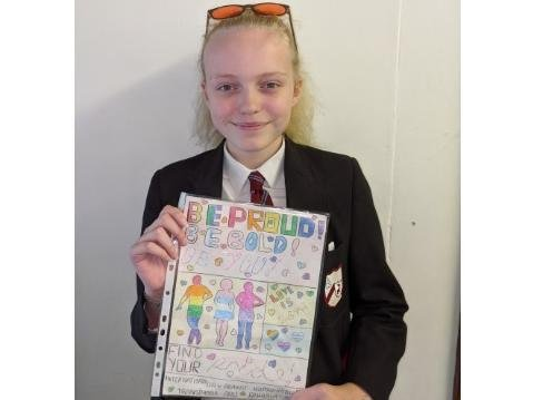 Megan Whale in year 8 who won the poster designing contest