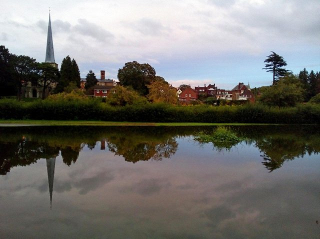 Old Town reflected in floods (C) Quentin Halfyard