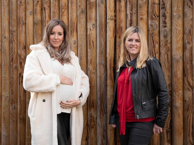 L-R Penny Joyner-Platt and Kate Gregory at Paradise Wildlife Park to launch Little Ankle Biters Hertfordshire