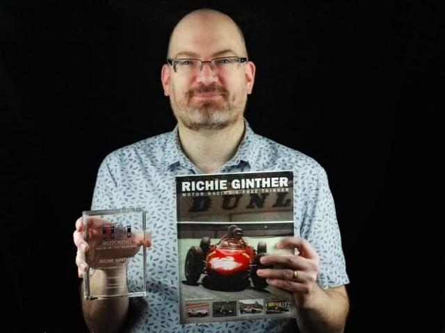 Richard Jenkins won Motoring Book of the Year at the Royal Automobile Club Motoring Book of the Year Awards (C) AJ Photography