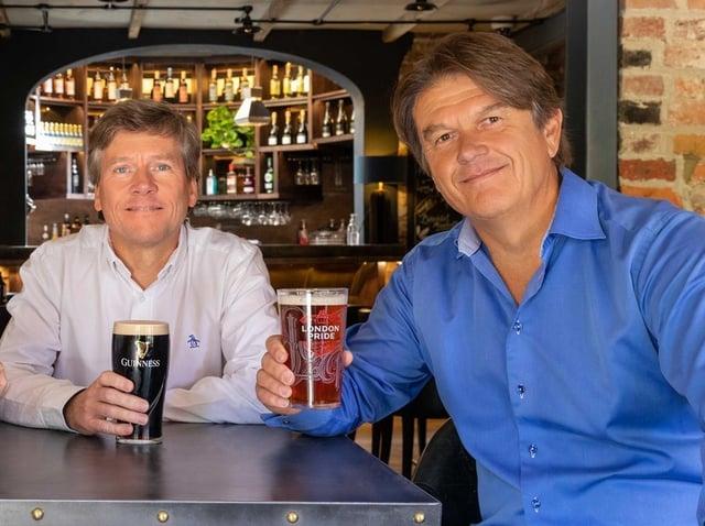 Oakman Inns' CEO, Dermot King & Exec Chair Peter Borg-Neal - med res