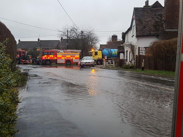 Flooding in Long Marston