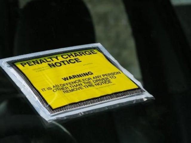 Parking ticket stock image