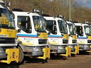 Gritter line up (C) Hertfordshire County Council
