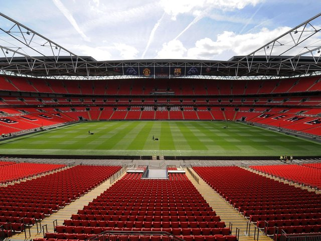 An empty Wembley Stadium will hopefully be a thing of the past after May