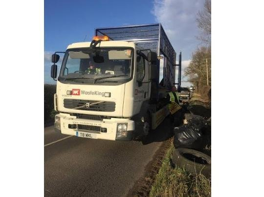 Waste King team up with Camiers Waste Management to clean up the verges and hedgerows