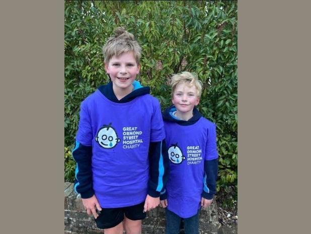 Oli and Tom raised over £5,000 for GOSH