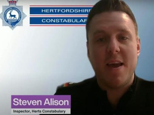 Inspector Steve Alison is the Chair of the Herts Police LGBT+ Network