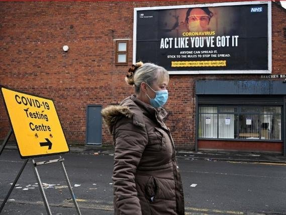 Restrictions in England change as stage one of the roadmap out of lockdown begins (C) OLI SCARFF/AFP via Getty Images