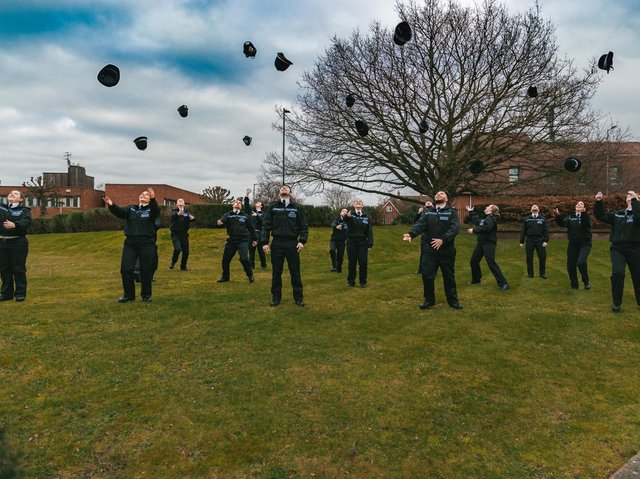 Hertfordshire Police's first 15 new trainee police officers of 2021 officially graduated on Friday