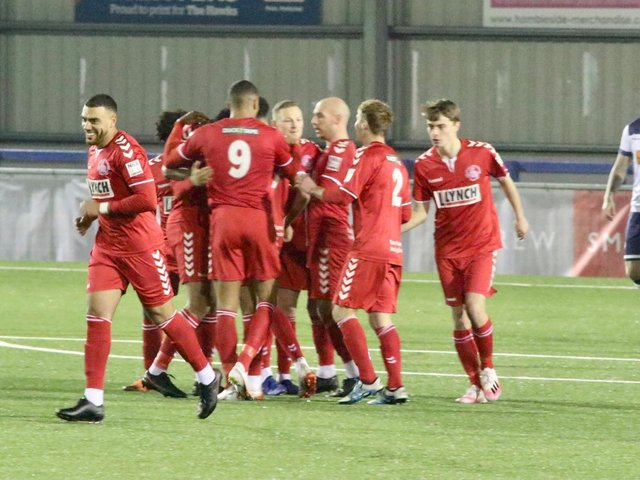 Hemel Hempstead Town's players have had the backing of their loyal supporters, even though they haven't been able to attend matches