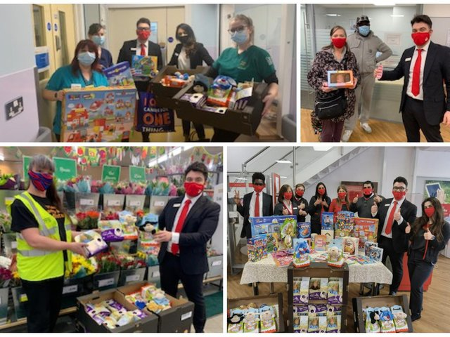 The branch raised cash to buy toys and Easter eggs for children at Watford Hospital