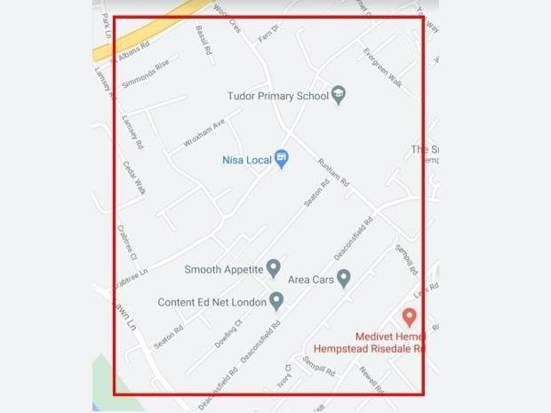 Officers would like residents in the highlighted area to check to ensure that their vehicles haven't been broken into overnight