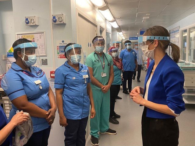 West Hertfordshire Hospitals NHS Trust recently welcomed the minister for care, Helen Whately, to Watford General Hospital
