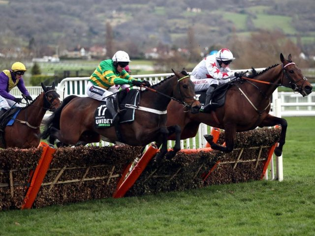 Epatante and Barry Geraghty hit the front before going on to win the Grade 1 Unibet Champion Hurdle