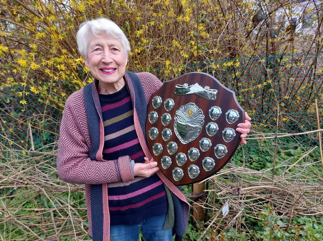 Joan Fisher has received the town council's Senior Civic Award for her outstanding contributions which have benefitted many people in Berkhamsted