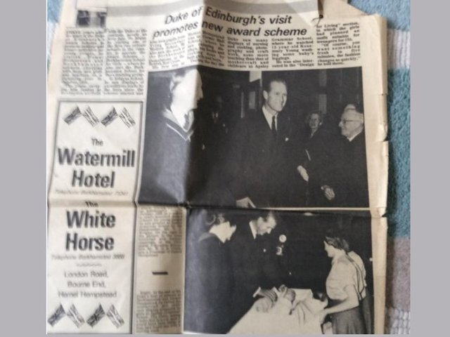 A cutting of the story that featured in The Gazette in 1959