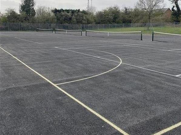 Newly resurfaced tennis and netball courts at Cupid Green Playing Fields