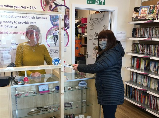 Welcoming customers back to the Maylands shop