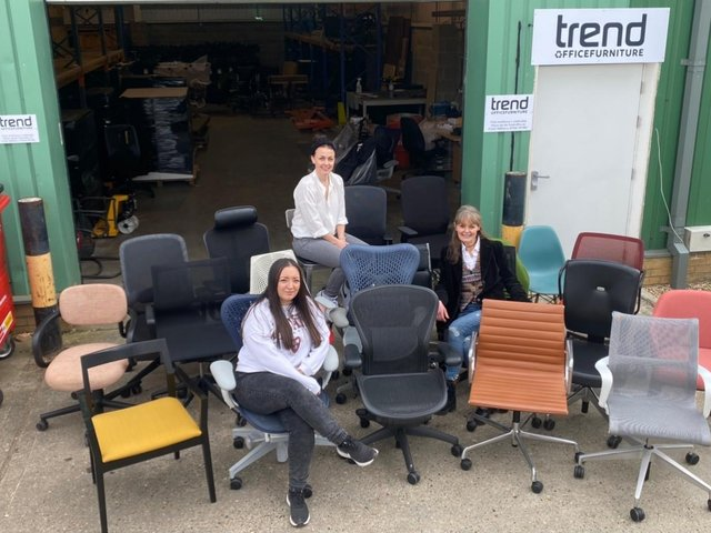 Bex, Sianne and Jo outside the new Trend HQ