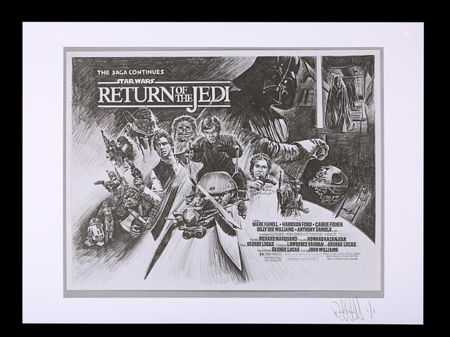 Lot 484 Original Negative with 1 of 1 Proof Print, 2021 from Star Wars: Return Of The Jedi (1983). Est. £200 - £300