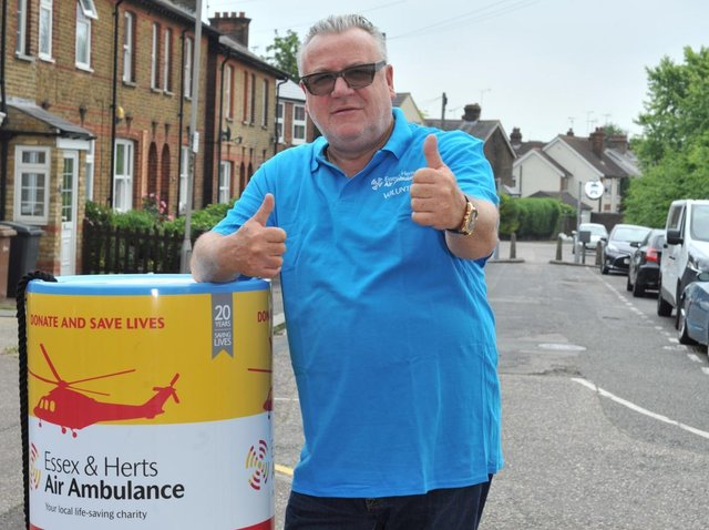 TV star Ray Winstone, the charity's celebrity patron