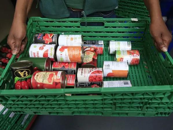Foodbank stock image