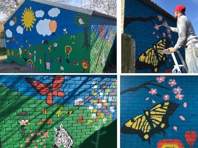 Community mural adds splash of colour to Tring's Miswell Park
