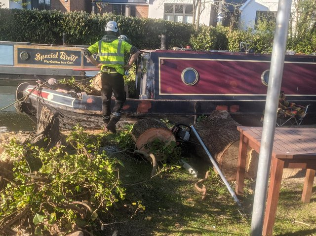 The Canal and River Trust's response team dealt with the incident