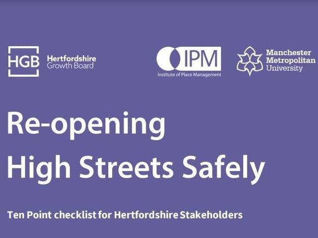 Ten point checklist to support safe return to Hertfordshire high streets
