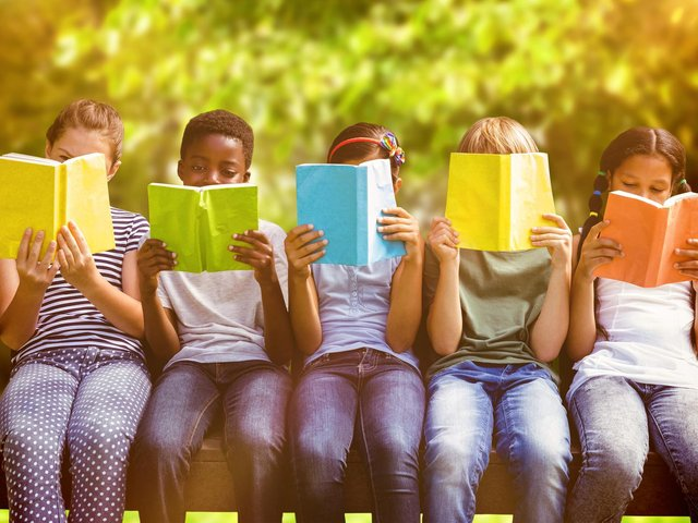 The campaign encourages children to read for pleasure