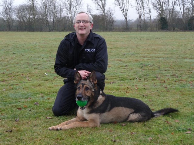 PC Dave Wardell and PD Finn