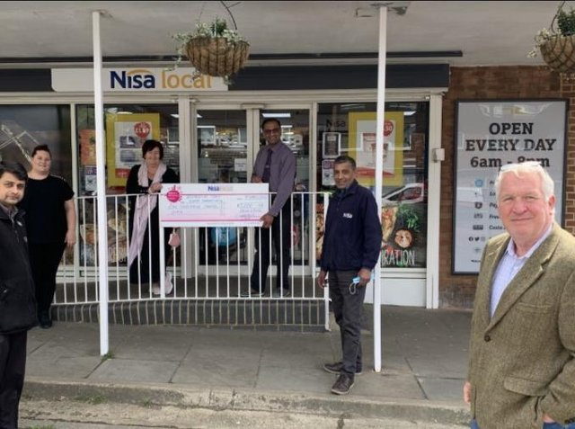 Nisa Local's charity Making a Difference Locally has contributed £1,000