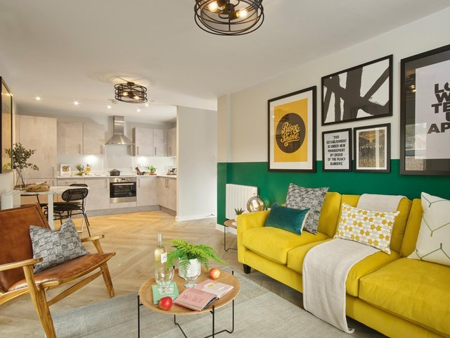 An interior image of the show apartment at The Foundry