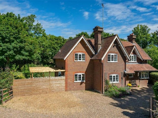 This four-bedroom attractive Rothschild style period house in Tring is on the market