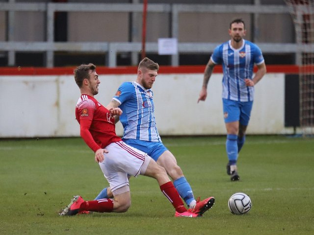 Kettering Town and Brackley Town will clash in the National League North again next season. Picture by Peter Short