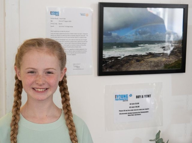 Anna Pryke, winner in the 7-10 category, and a finalist in the District competition