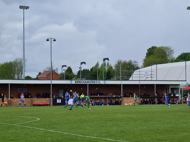 Fans were back to watch Berkhamsted and Leverstock Green bring the curtain down on the season in a friendly clash. Picture by Dave Nelson