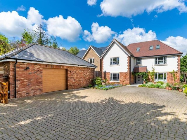 This six-bedroom house in Berkhamsted as a cinema and gym in the basement