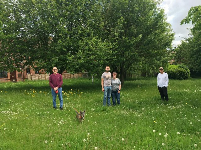 A newly adopted wildflower meadow is taking shape on the Fields End Estate