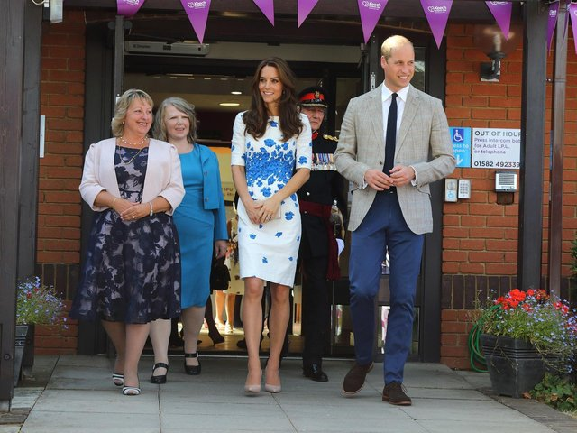 Royal visit in 2016 (C) Keech Hospice Care