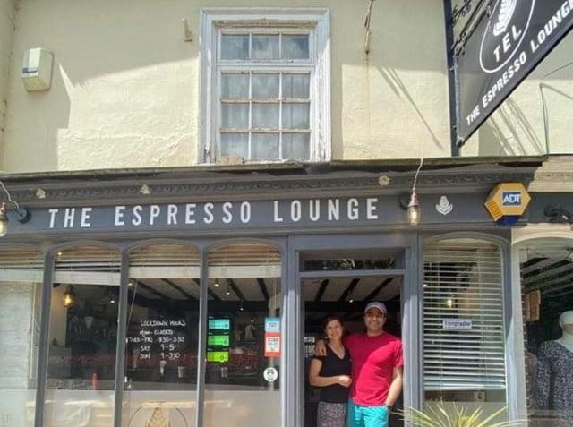 Aron and Clare Sharma at The Espresso Lounge