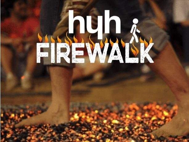 Sign up now for Herts Young Homeless Firewalk