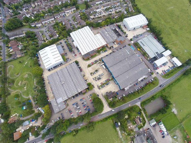 Aerial view of Maylands Business Park