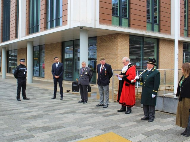 Dacorum Borough Council's flag raising ceremony at The Forum in Marlowes