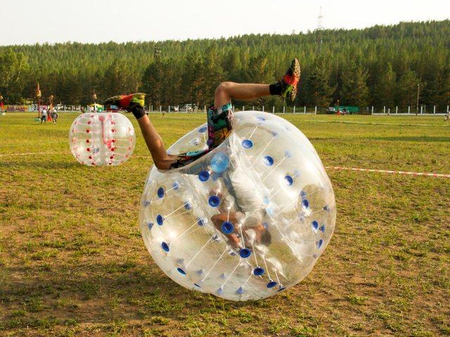 Bumperball zorbs at Epic Holiday Camps